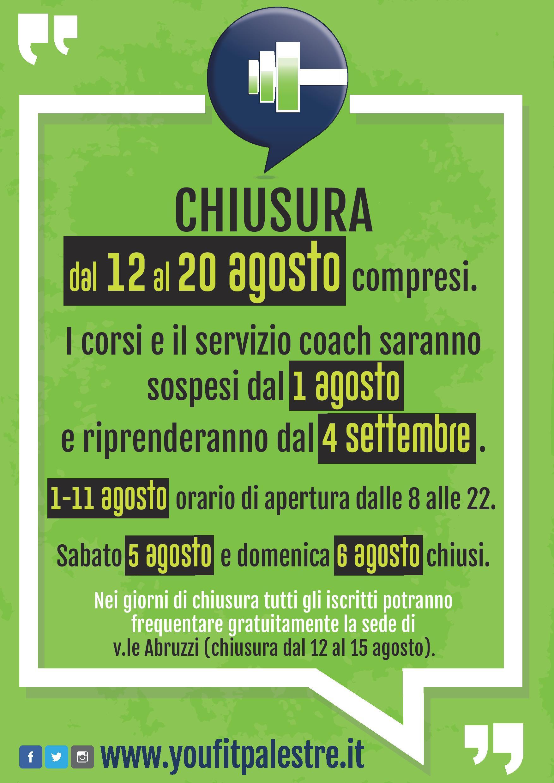 Orari Estivi sede via Bergamo